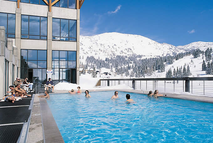 Outdoor Heated Pool | Alta's Rustler Lodge