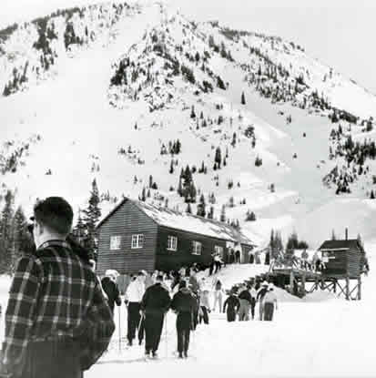 Base of Collins Chairlift at Alta, circa 1947